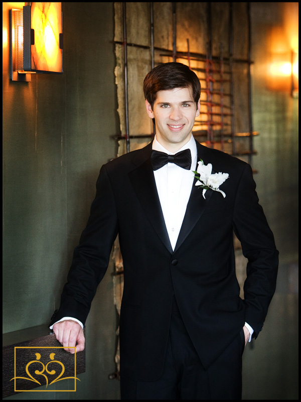 Bradley makes a very handsome groom; could be model material.