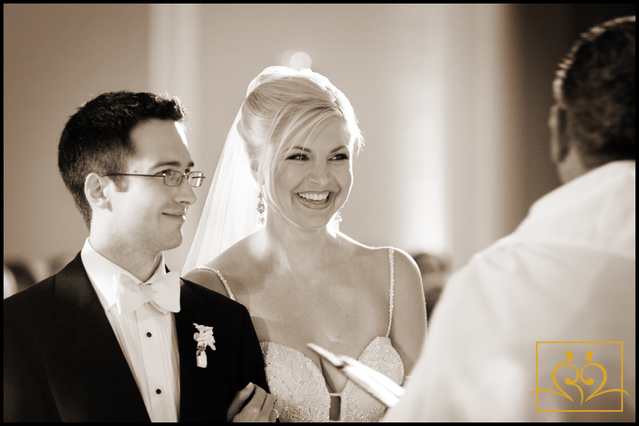 Stephen and Stacey are very much enjoying their wedding ceremony.