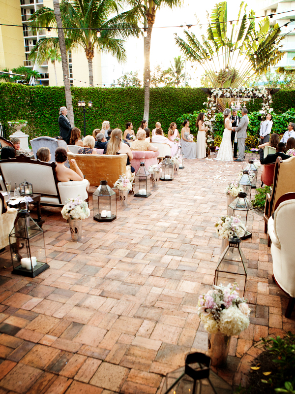 The Bath Club Miami Beach wedding courtyard