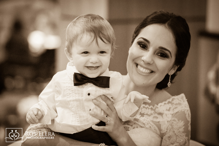 Ring Bearer with bride Miami wedding