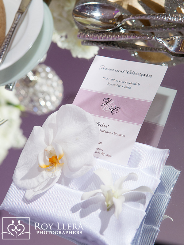 ritz carlton ft lauderdale wedding menu